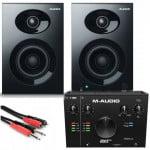 Alesis Elevate 3 MkII + M-Audio AIR 192/4 + kable - zestaw