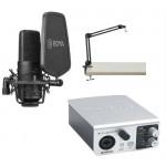 BOYA BY-M800 - Cardioid Condenser Microphone + MIDIPLUS- STUDIO M + SAMSON MBA28