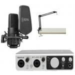 MIDIPLUS- STUDIO 2 - USB Audio Interface + BOYA BY-M800 + SAMSON MBA28