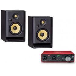 KRK RP5 G4 - pair of activ monitore + Focusrite Scarlett 2i2 3rd Gen
