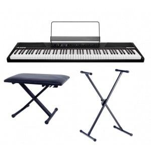 ALESIS Recital - zestaw pianino ze statywem i ławą
