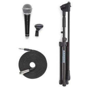 """Samson VP10CE Consumer - zestaw mikrofon R21 z wył. + statyw mikrofonowy MK10 + kabel XLR - JACK 1/4""""- 5 mtr."""