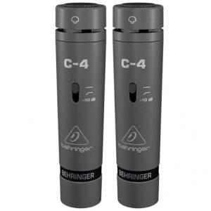 BEHRINGER C-4 - zestaw 2 sparowanych, studyjnych mikrofonów pojemnościowych.