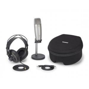 Samson C01U Pro Recording/Podcast - USB Studio Condenser Microphone with Accessories