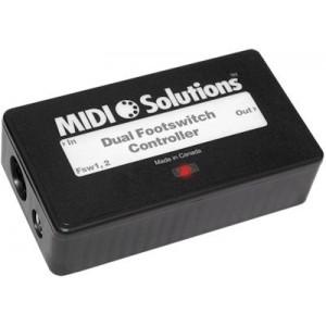 MIDI SOLUTIONS- DUAL FOOTSWITCH CONTROLLER (Podwójny kontroler przełącznika nożnego)