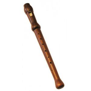 MAT MAX Janko drewniany flet prosty Szkolny, Sopranowy + Pokrowiec