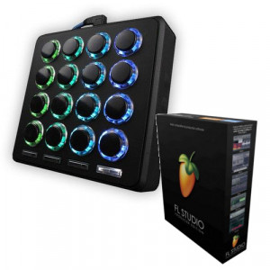 DJ TECHTOOLS MIDI FIGHTER 3D BLACK + FL STUDIO 20 PRODUCER EDITION BOX