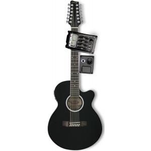 Stagg SW 206 CETU/12 BK - Gitara elektro-akustyczna, 12-sto strunowa