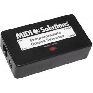 MIDI SOLUTIONS- PROGRAMMABLE OUTPUT SELECTOR (Programowany selektor wyjść)