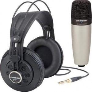 Samson C01 - wielko-membranowy mikrofon pojemnościowy + słuchawki SR850 w komplecie
