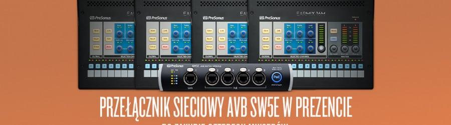Promocja: Przełącznik sieciowy SW5E w prezencie przy zakupie 4 szt. PRESONUS EarMix 16M