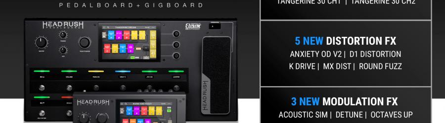 Aktualizacja funkcji do wersji 2.3 dla procesorów Gigboard i Pedalboard