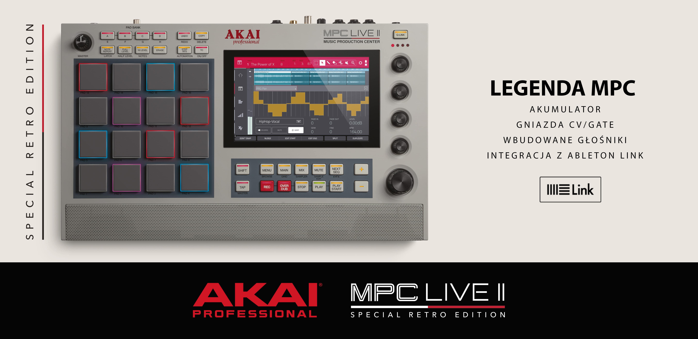 Firma Akai Professional zapowiedziała edycję MPC Live II Retro!