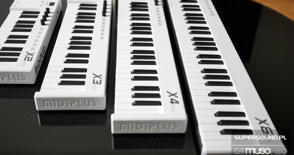 MIDIPLUS X2, 3, 4, 6 mini- prezentacja klawiatur midi