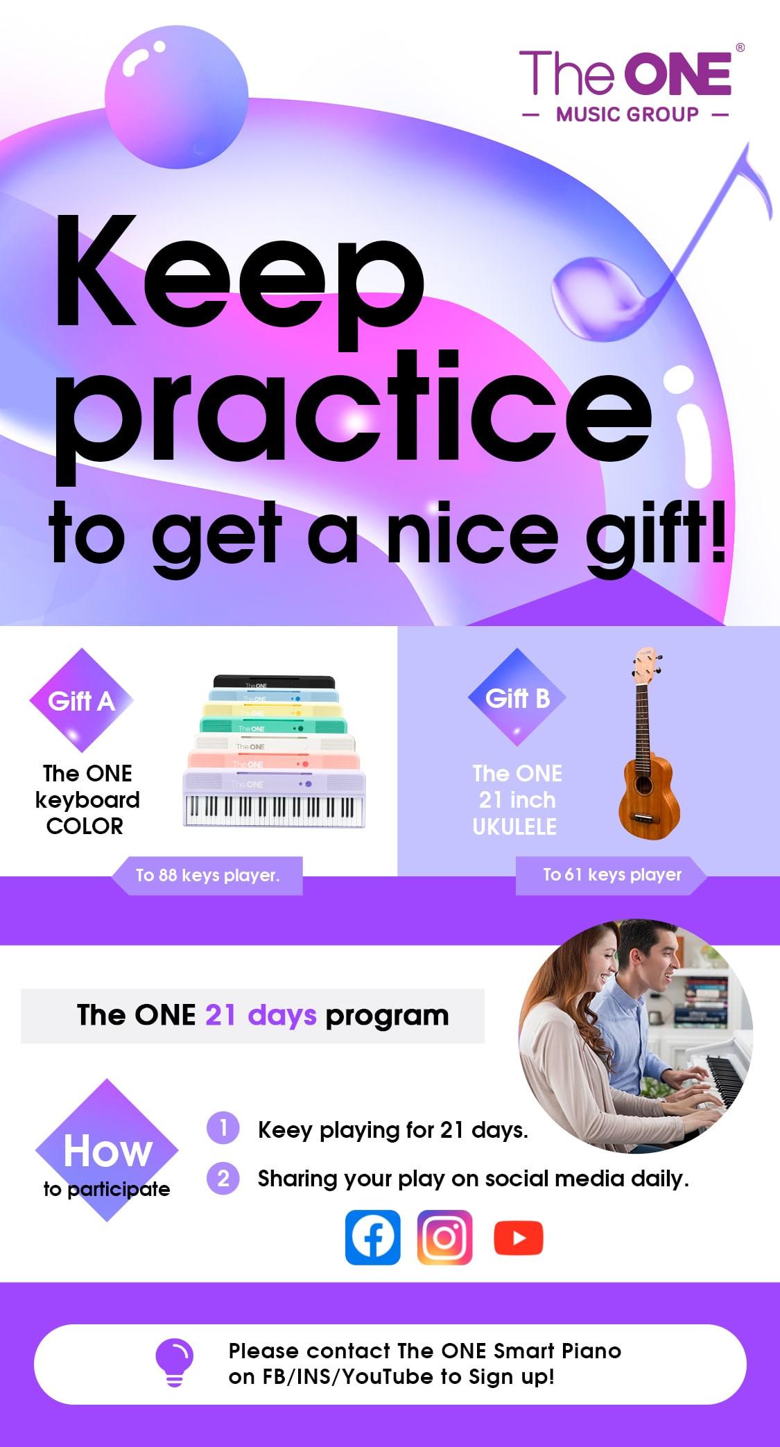 Promocja The One Smart Piano: zgarnij keyboard lub ukulele!
