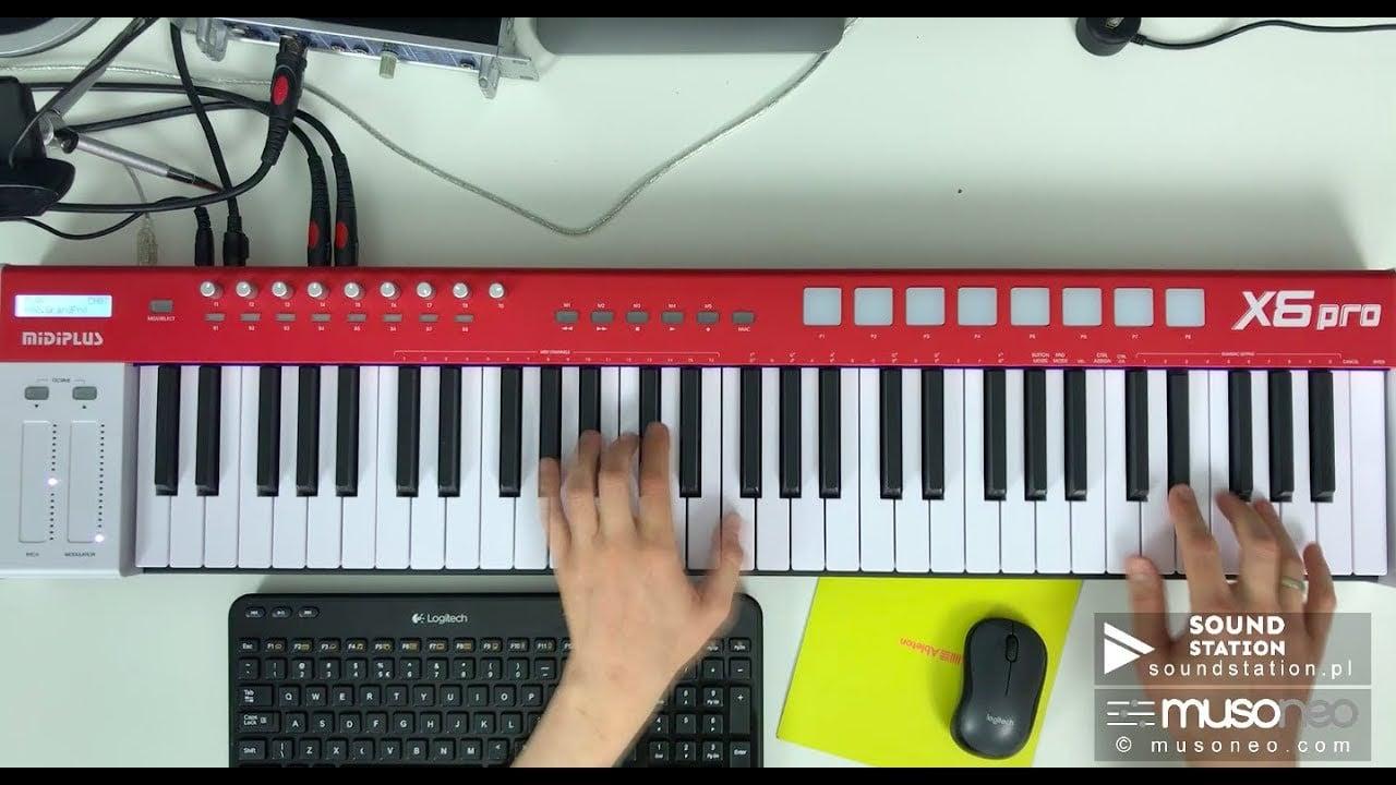 Elektroniczne instrumenty klawiszowe od MIDIPLUS- X6 PRO  i X8 PRO