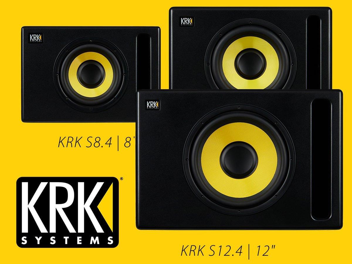 Nowe, aktywne profesjonalne subwoofery od KRK (S8.4, S10.4, S12.4)