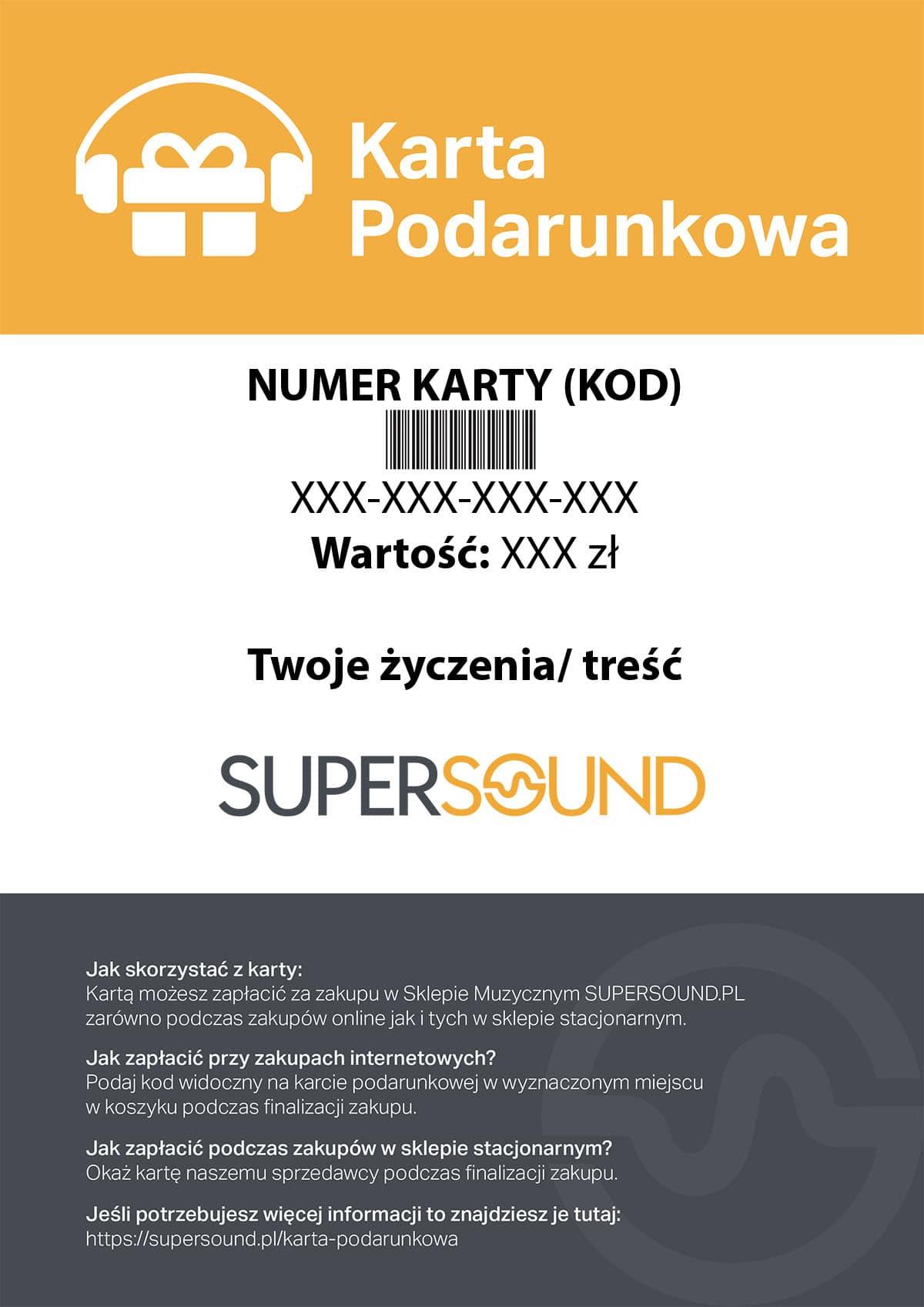 KARTA PODARUNKOWA- wersja elektroniczna