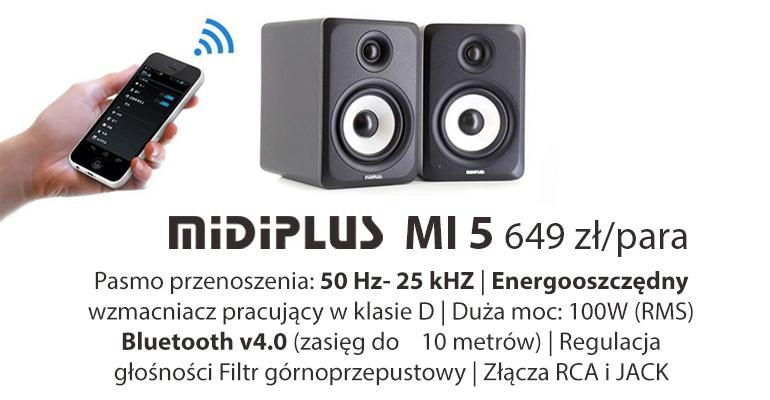 MIDIPLUS MI5- monitory odsłuchowe bezprzewodowe