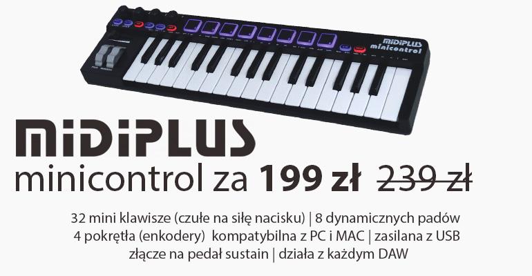 MIDIPLUS MINICONTROL- klawiatura sterująca MIDI USB